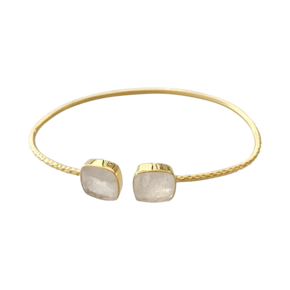 Moonstone Gold Plated Bangle