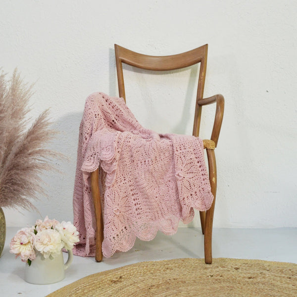 Wrap Me Love Pink Crochet Throw