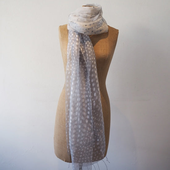 Spotty Grey Day Scarf
