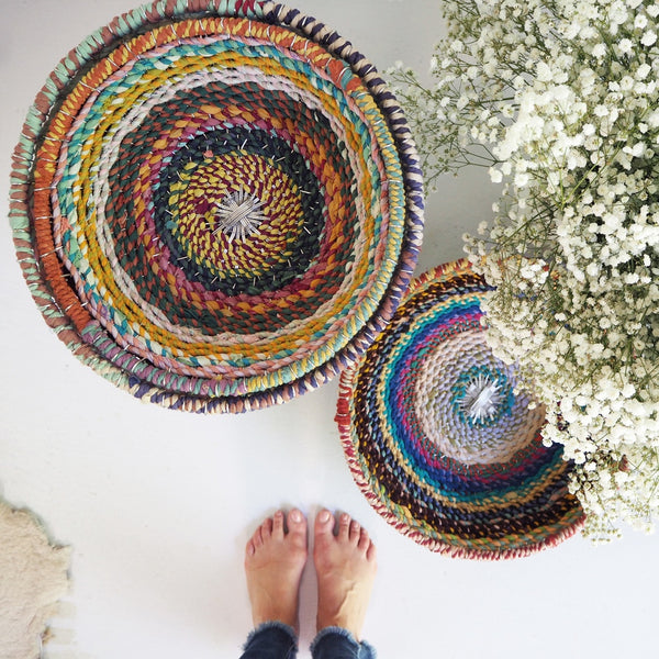 Coloured Woven Baskets