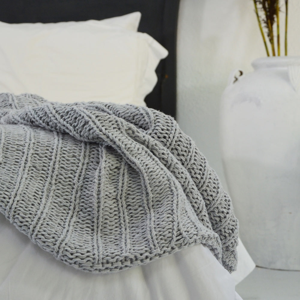 Wrap Me Up Grey Throw