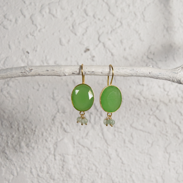 Hanging Aventurine Earrings