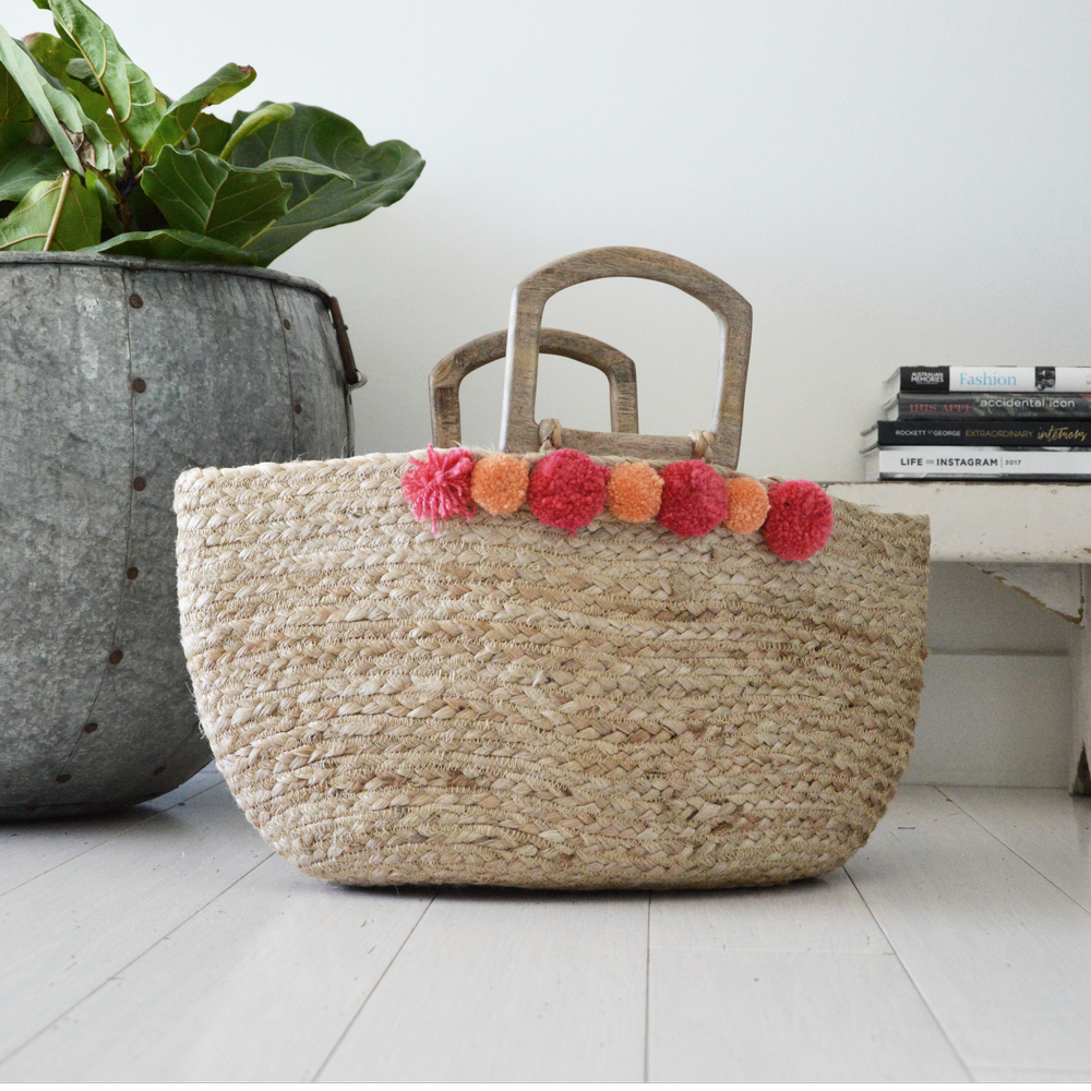Hand Made Jute Woven Tote bags by Penny Farthing Design House. These are your must have summer accessory, from beach days to Sunday markets. Penny Farthing Design House is a boutique homewares and accessories store both online and in store.