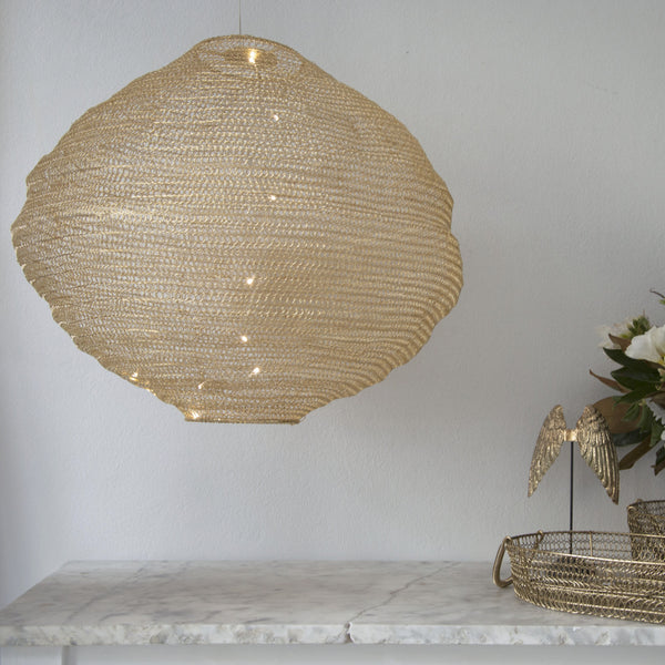 Gold Circular Pendant - Penny Farthing Design House