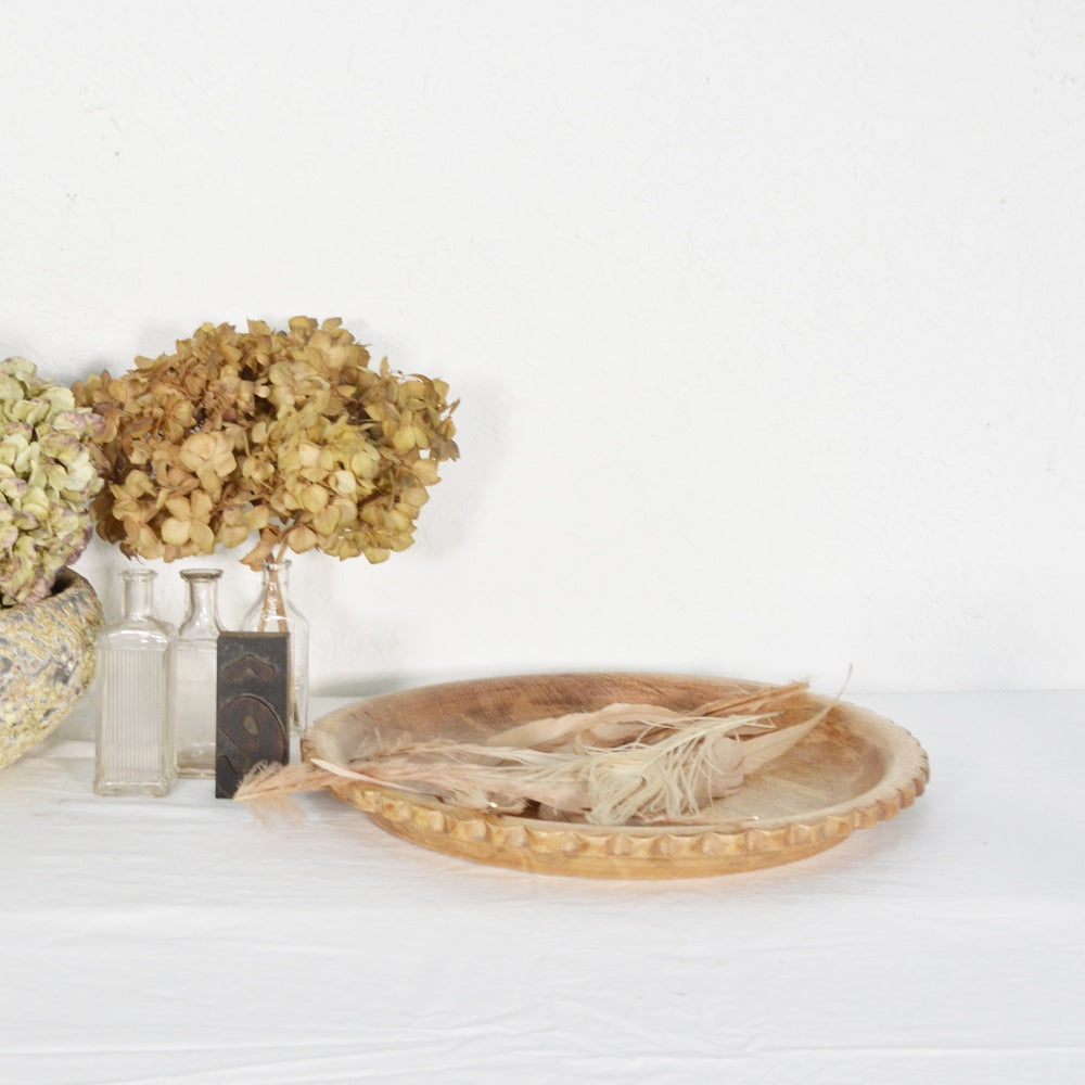 Round Natural Flower Tray