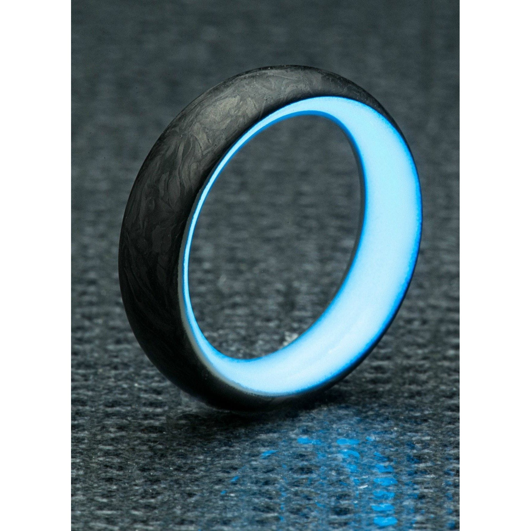 rings glow dark in lume the etsy component wedding ideas color ring fancy blue