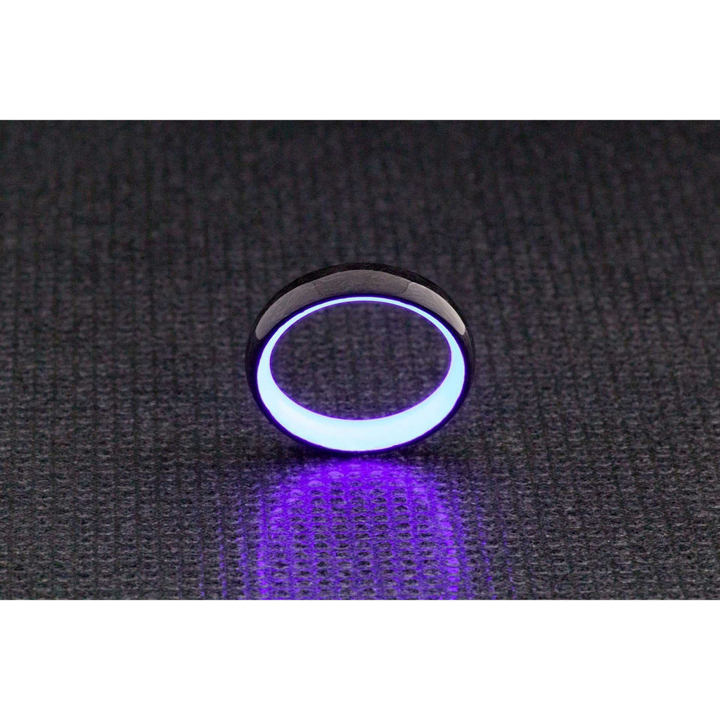 Brilliant Purple Glow in The Dark Ring