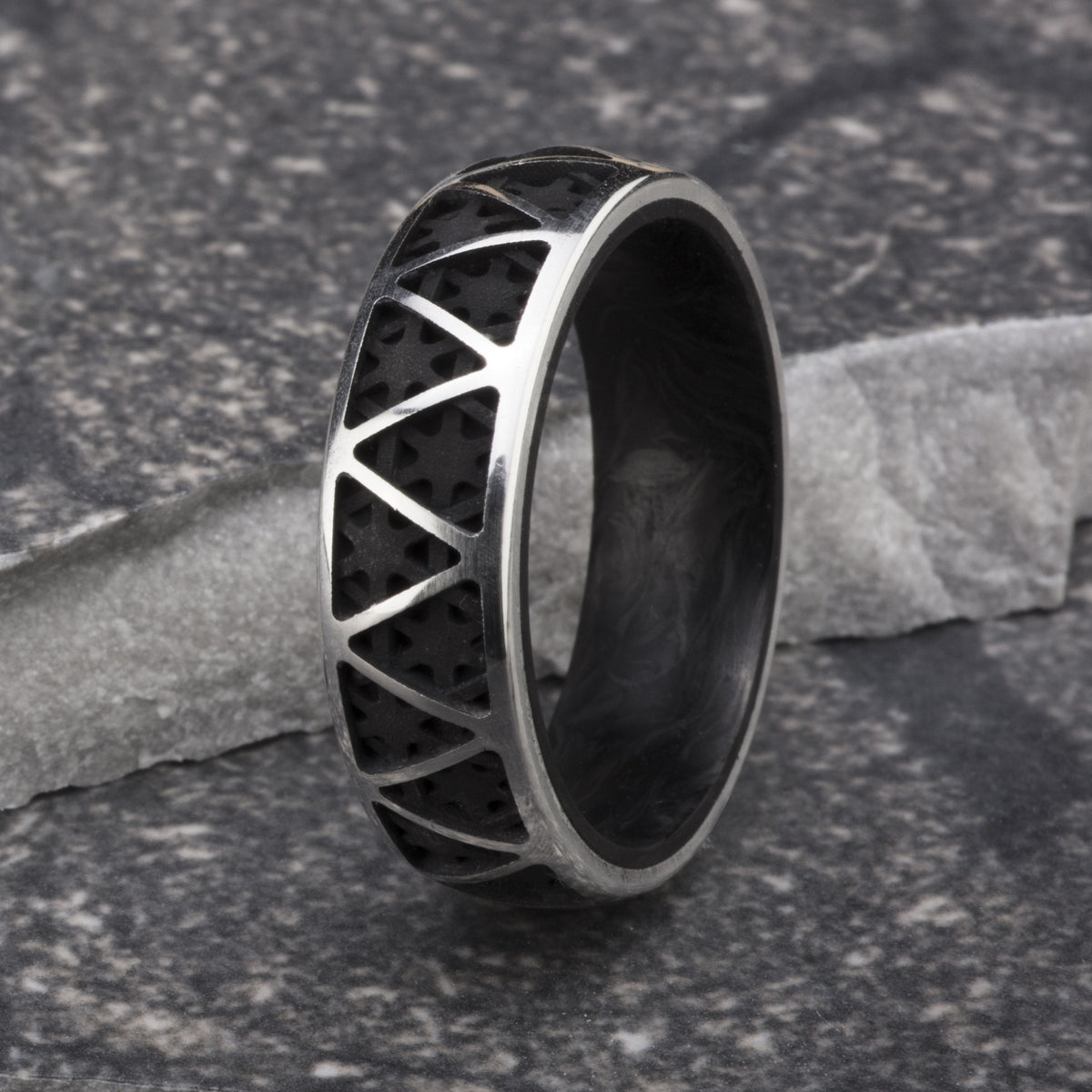 Forged Carbon Truss Ring