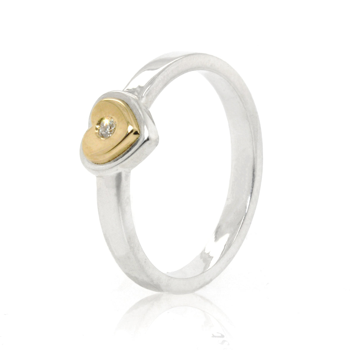 Golden Love Heart Ring