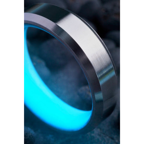 T1 Titanium Glow Ring—Blue