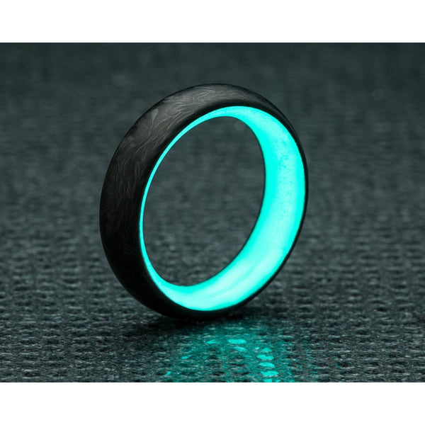 carbon fiber glow ring in turquoise by carbon 6 carbon6