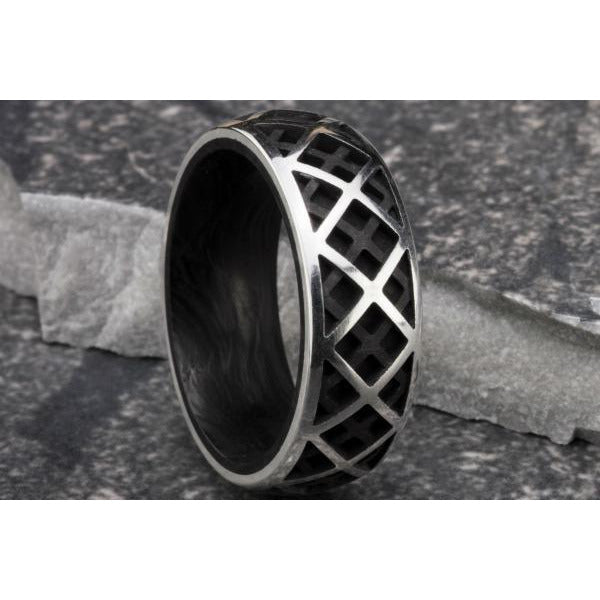 Forged Carbon Cage Ring
