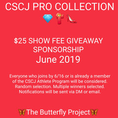 PRO $25 SHOW FEE SPONSORSHIP *GIVEAWAY* ***INFO ONLY*** Multiple Winners Selected.