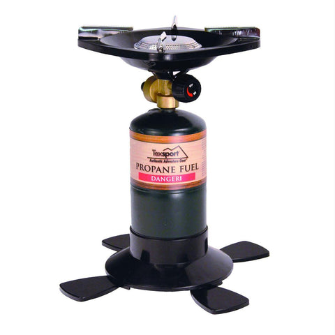 Texsport Single Burner Propane Stove Uses 16.4oz OR 14.1oz
