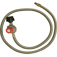 King Kooker #30502-HP Regulator and SS Hose-Female Flare End