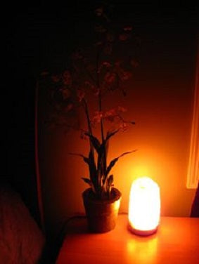 Salt Lamps Emit Relaxing Soothing Light varying in colour