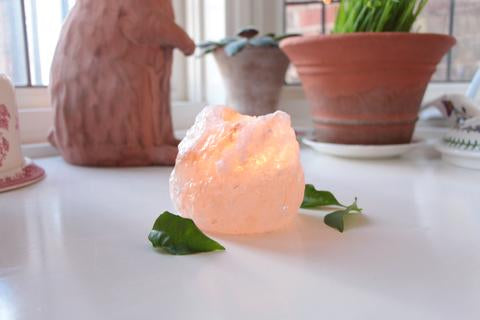 Light From White Gold Himalayan Salt
