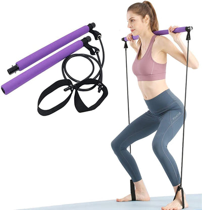 Yoga Pull Rod Pilates Rod For Arm Strength Training Portable & Multi-Purpose Use Home & Gym Body Abdominal Stick Ideal for Men & Women Workout Exercise
