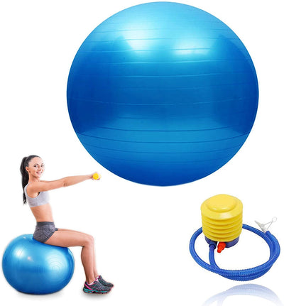 Exercise Ball With Pump Yoga Ball Anti Burst For Fitness Gym Equipment For Women Home, Free Weights Exercise, Pregnancy Birthing Or Pilates Indoor Outdoor Use