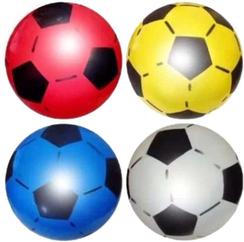 PVC Plastic Football For Kids Soccer Shoot Lightweight Adjustable Inflatable ball Suitable For Indoor Outdoor Play Beach, Park, Home, Birthday, School And Parties Assorted Colors