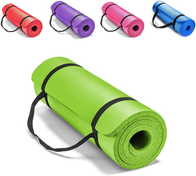 SourceDIY Yoga Mat For Women And Men Non Slip Extra Thick Exercise Mat Home Gym Equipment For Fitness, Workout, Planks, Core Balance, Gymnastics & Pilates 10mm