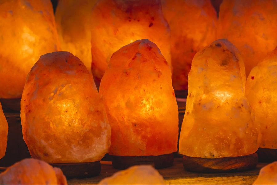 Himalayan Rock Salt Lamp 1.5-2 KG (Sold Pack of 6) - SourceDIY