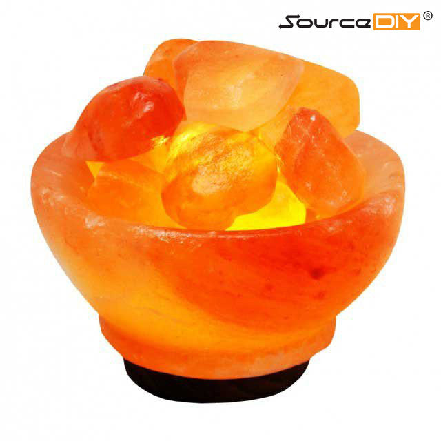 HIMALAYAN CRYSTAL FIRE BOWL WITH HEART SHAPED CRYSTAL