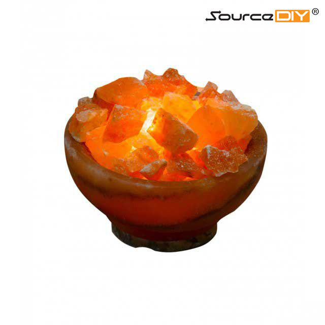 FIRE BOWL HIMALAYAN CRYSTAL SALT LAMP 6""
