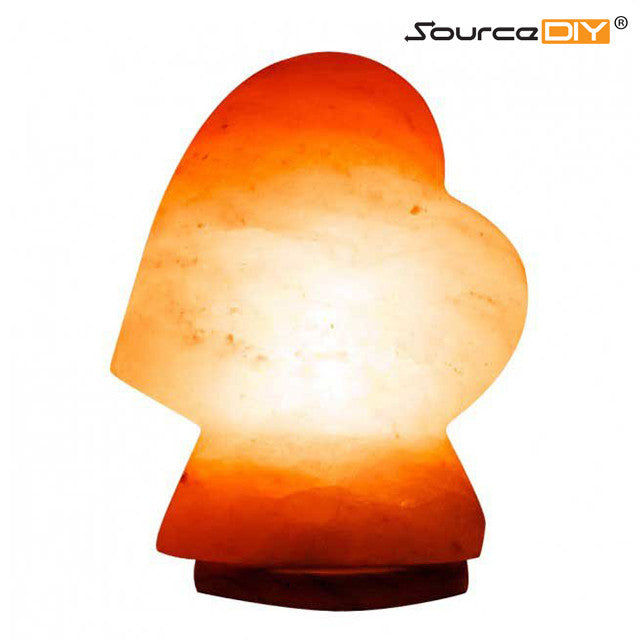 HEART SHAPED HIMALAYAN CRYSTAL SALT LAMP