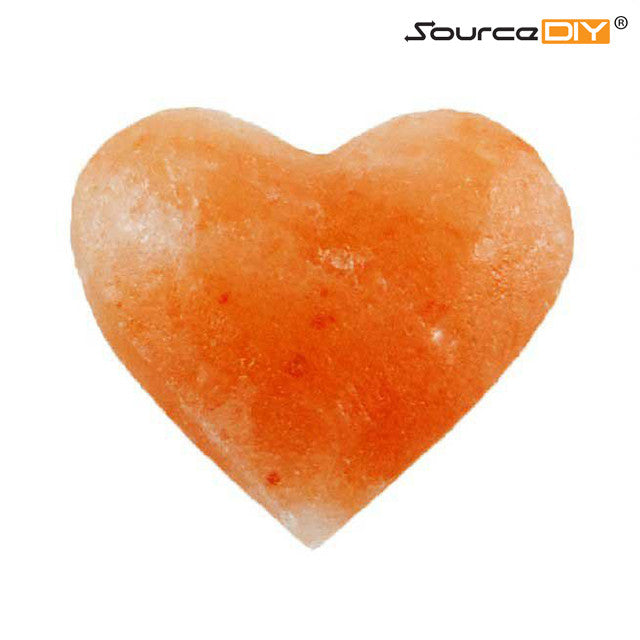 HEART SHAPED HIMALAYAN CRYSTAL SALT STONE SMALL - 6 UNITS