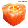 HEART SHAPED HIMALAYAN CRYTAL TEALIGHT CANDLE HOLDER - 2 UNITS - SourceDIY