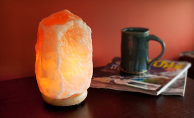 NATURAL PINK HIMALAYAN SALT LAMP WITH BS STANDARD UK PLUG - SourceDIY