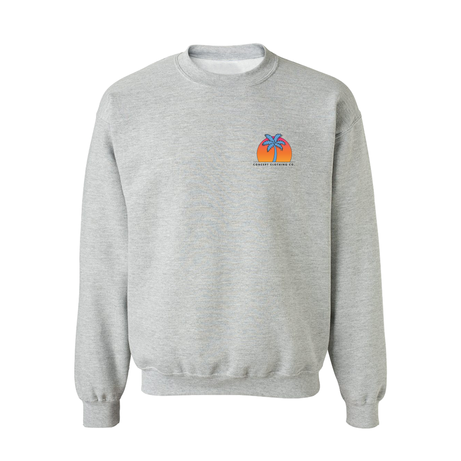 Crewneck | Palm Tree - Grey