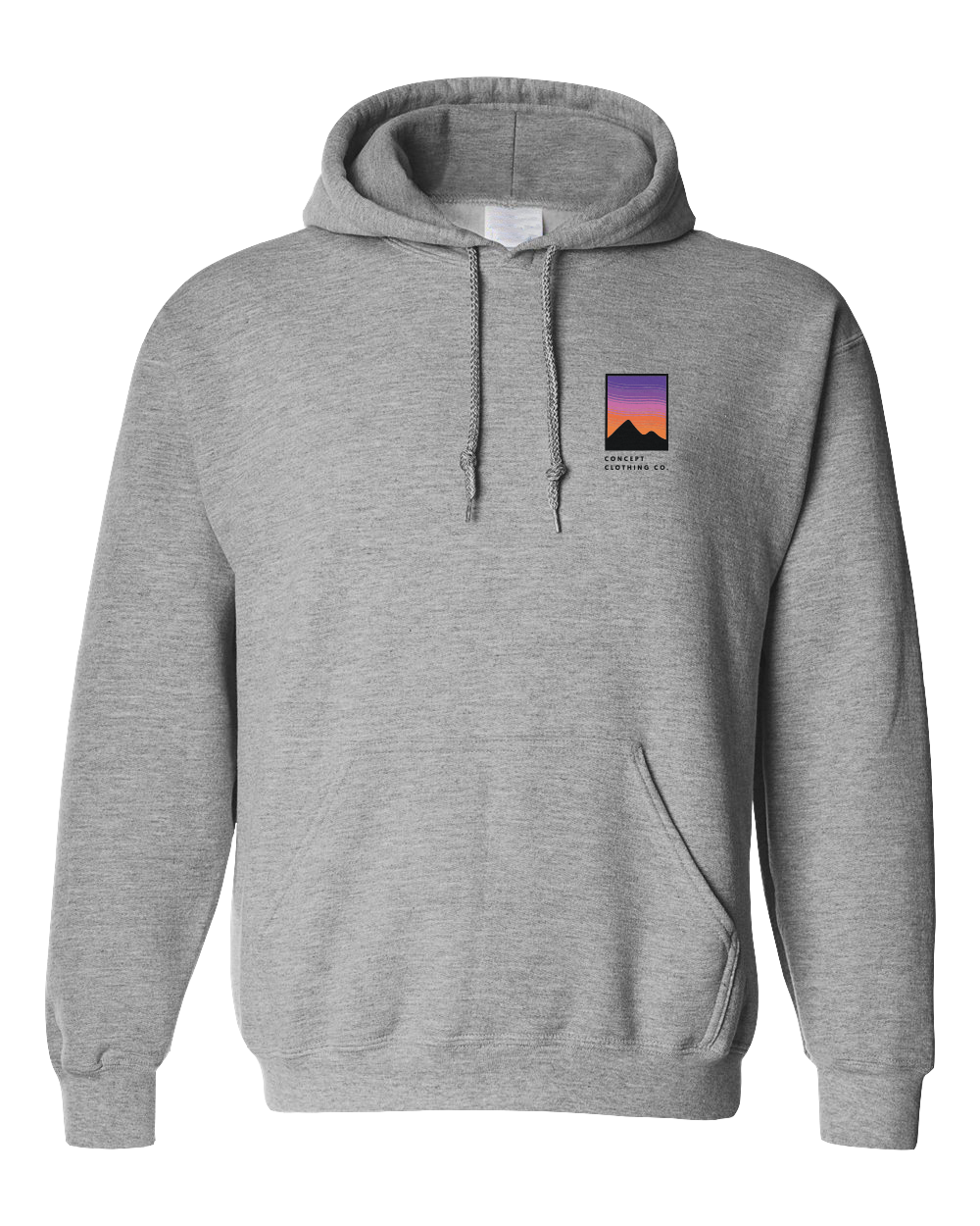 Hoodie | Concept sunset - Grey