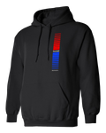 Retro Stripes Hoodie | Black