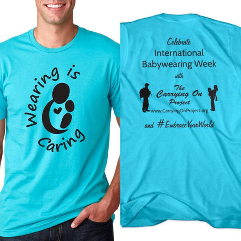 Wearing Is Caring Tshirts, Navy and Turquoise