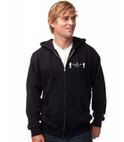 Black hoodies, Zip up and pullover style