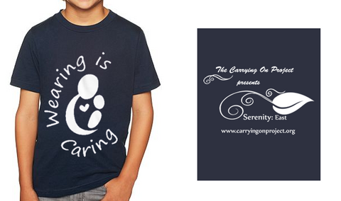 KIDS Wearing is Caring Navy Shirt