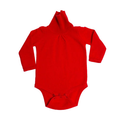Cashmere Baby Bodysuit - Red