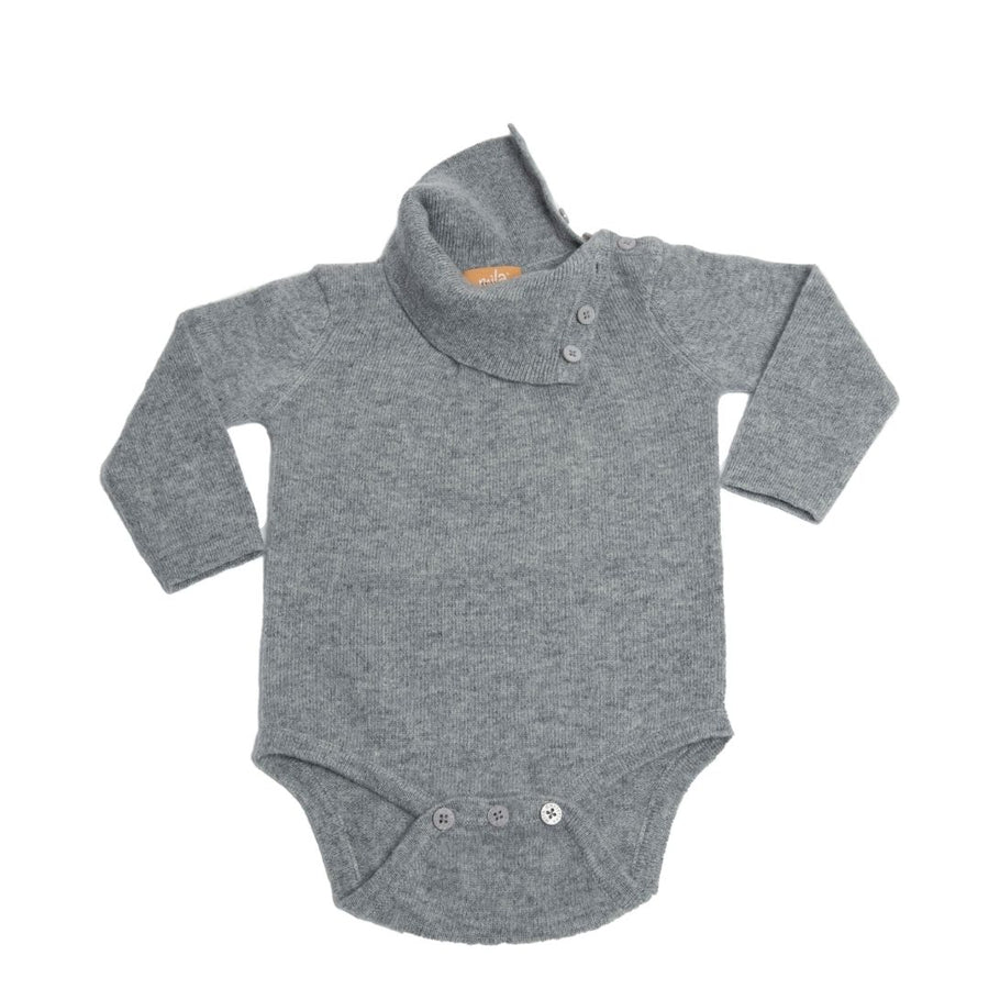 Cashmere Turtleneck Long Sleeve Baby Bodysuit
