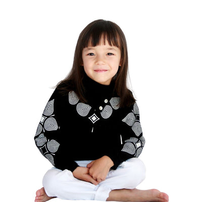 Cashmere Turtleneck Neck Long Sleeve Kids Sweater