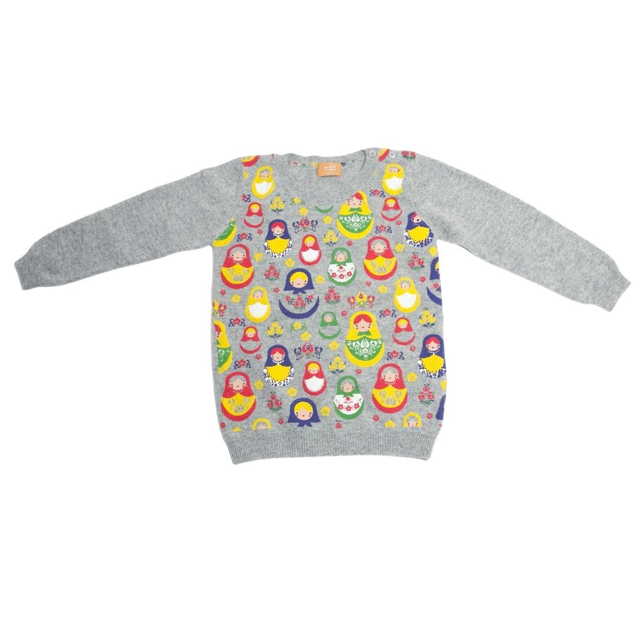 Kids Cashmere Crew Neck Sweater - Russian Dolls