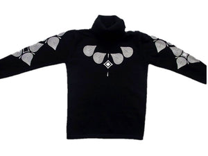 Turtle Neck Long Sleeve -  Black