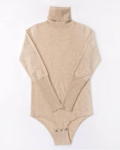 Cashmere Turtleneck Long Sleeve Women Bodysuit
