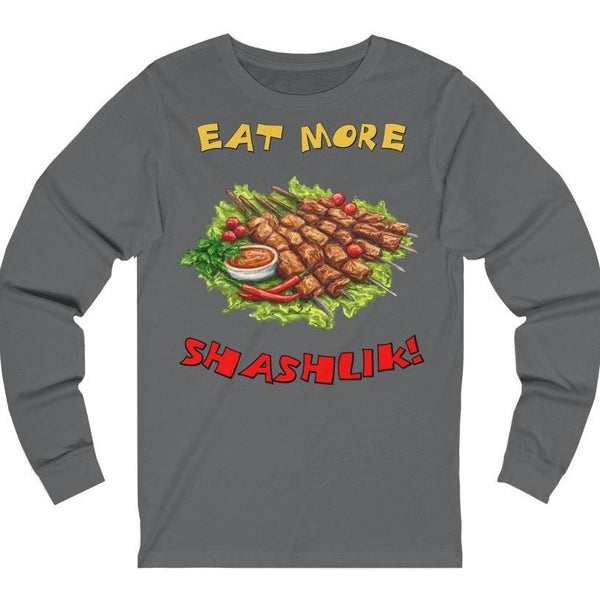 """Eat More Shashlik!"" Premium Long Sleeve Crewneck"
