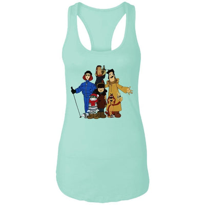 """Friends from Простоквашино"" Ladies' Fitted Tank Top"