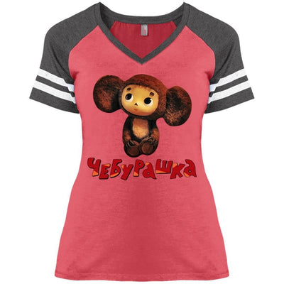 """Чебурашка"" Ladies' Game Day V-Neck"
