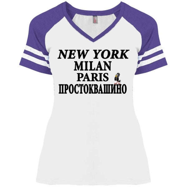 """NY Milan Paris"" Ladies'' Game Day V-Neck"