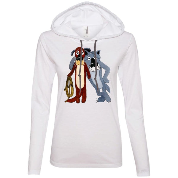 """Пес и волк"" Ladies'' Light Hooded Tee"