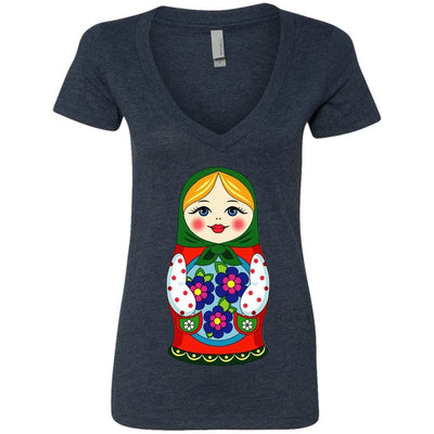 """Матрешка"" Ladies' Deep V-Neck Top"